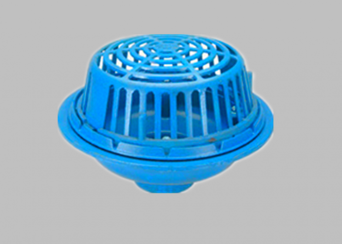 "Blue Round Cast Iron Roof Drain Dome  Diameter 13"" Sand Casting Dust Proof"