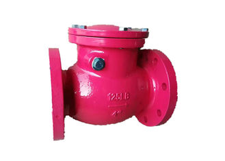 China Electric Cast Iron Swing Check Valve 4 Inches With Bronze Disc Trim supplier