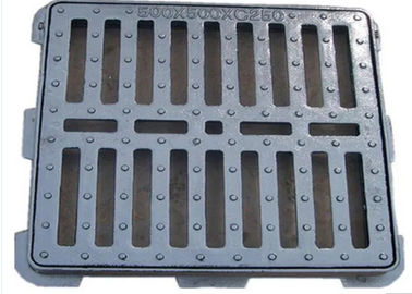 "China Ground Drainage Cast Iron Grate 20*18*2.5""  Surface Painting Anti Rust supplier"