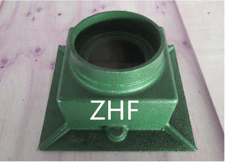 "China 3"" Cast Iron Drainage Products Square Drain Body For Roof Drain Systems supplier"