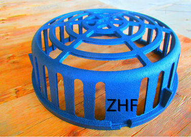"China Blue Round Cast Iron Roof Drain Dome  Diameter 13"" Sand Casting Dust Proof supplier"
